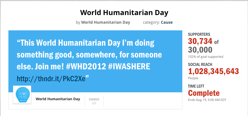 world humanitarian day thunderclap