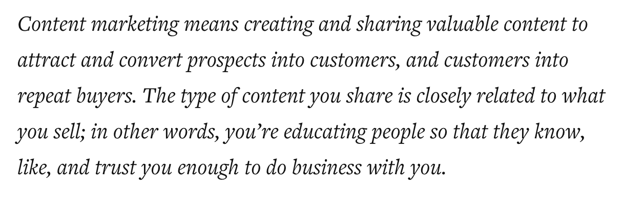 Content Marketing Means...
