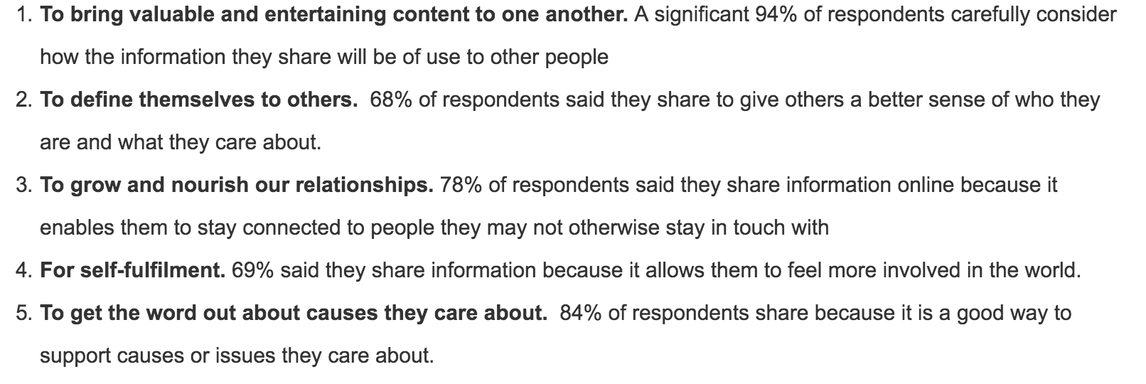 Why Do People Share Content?